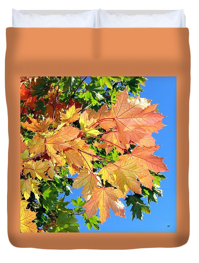 Autumn Duvet Cover featuring the photograph Maple Mania 1 by Will Borden