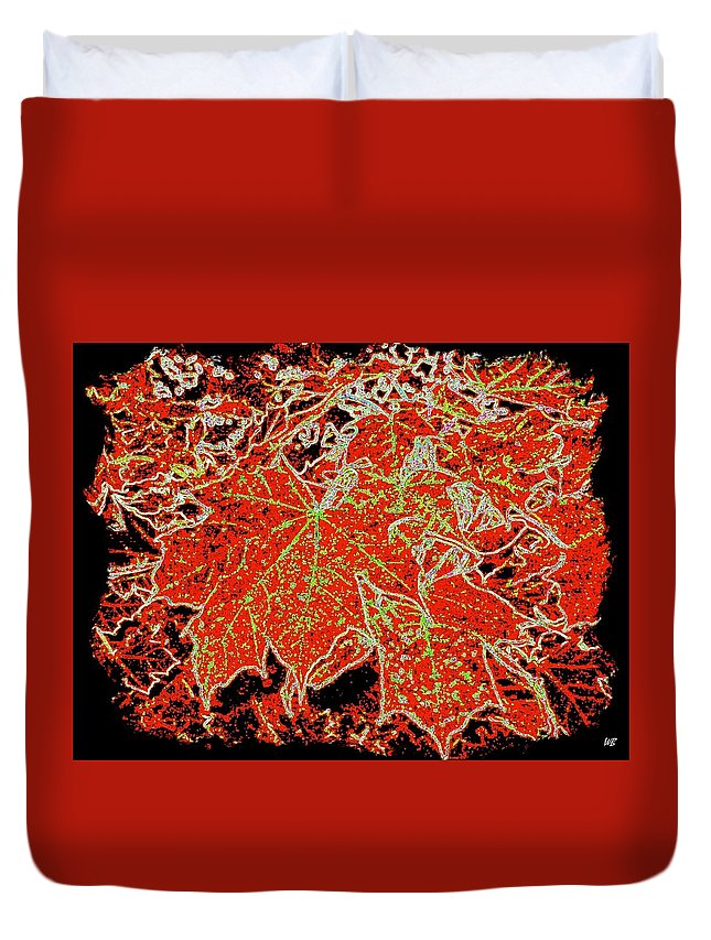 Cheerful Duvet Cover featuring the digital art Maple Mania 11 by Will Borden