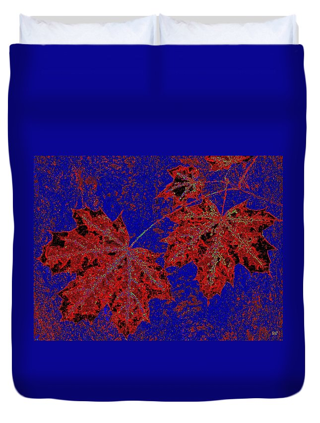 Cheerful Duvet Cover featuring the digital art Maple Mania 15 by Will Borden