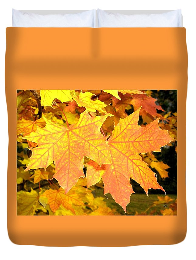 Autumn Duvet Cover featuring the photograph Maple Mania 2 by Will Borden