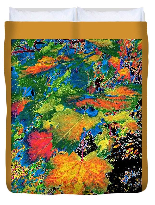 Photo Design Duvet Cover featuring the digital art Maple Mania 3 by Will Borden