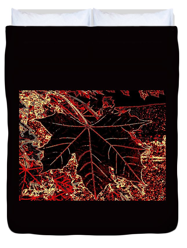 Cheerful Duvet Cover featuring the digital art Maple Mania 9 by Will Borden