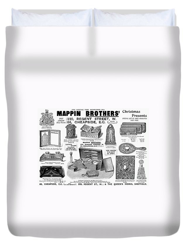 1895 Duvet Cover featuring the photograph Mappin Brothers Ad, 1895 by Granger