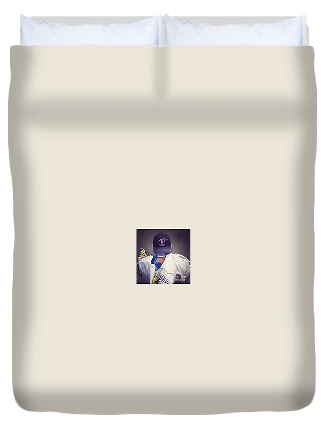 Boston Marathon Duvet Cover featuring the photograph Boston Marathon True Grit by MaryLou England