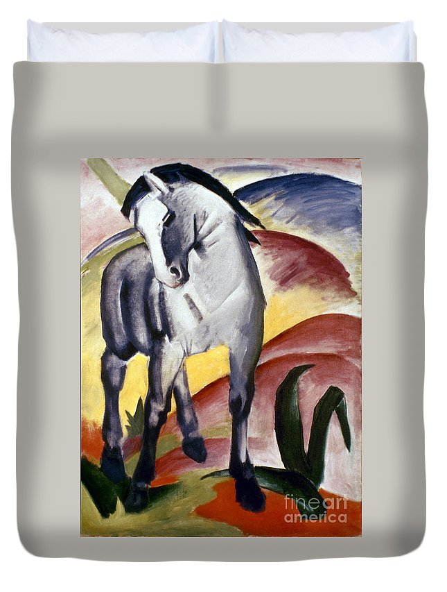 1911 Duvet Cover featuring the photograph Marc: Grey Horse, 1911 by Granger