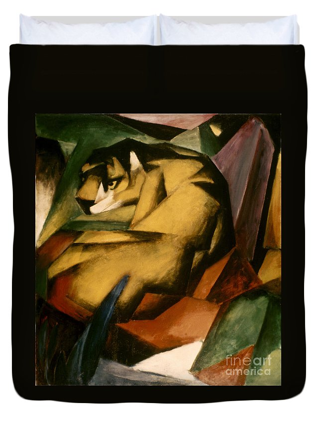 1912 Duvet Cover featuring the photograph Marc: The Tiger, 1912 by Granger