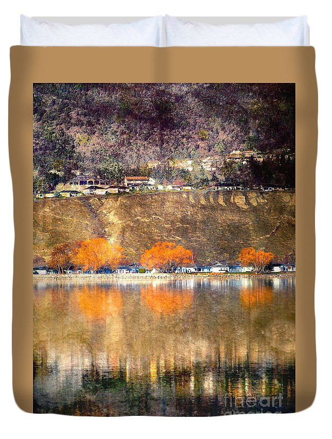Reflections Duvet Cover featuring the photograph March 13 2010 by Tara Turner