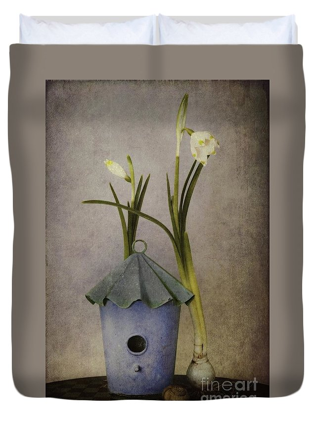 Still Life Duvet Cover featuring the photograph March by Priska Wettstein