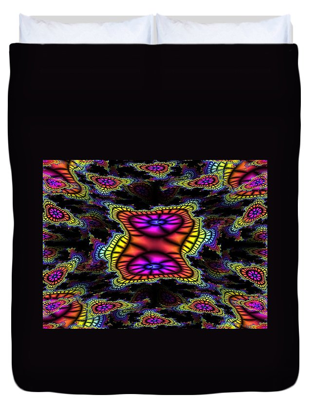 Mardi Gras Duvet Cover featuring the photograph Mardi Gras Fractal by Tim Allen