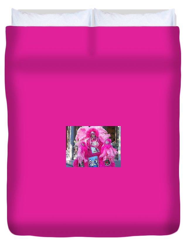 Mardi Gras Indian Duvet Cover featuring the photograph Mardi Gras Indian by Dotti Hannum