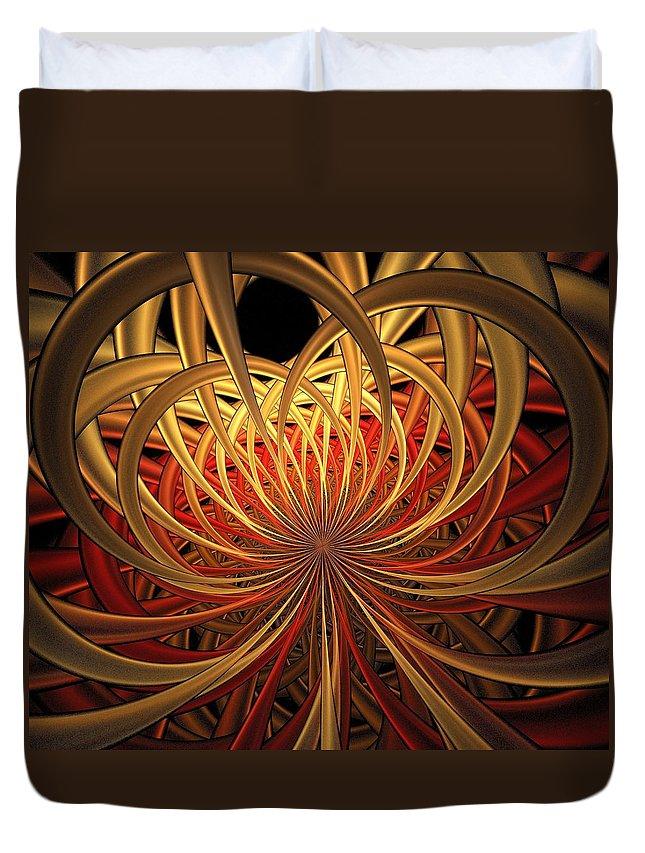 Digital Art Duvet Cover featuring the digital art Marigold by Amanda Moore