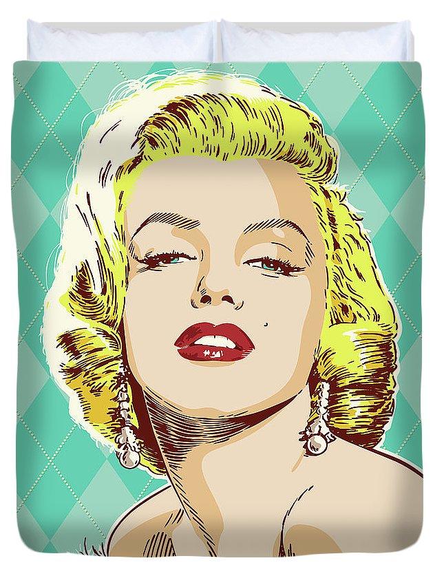 Marilyn Monroe Pop Art Duvet Cover for Sale by Jim Zahniser