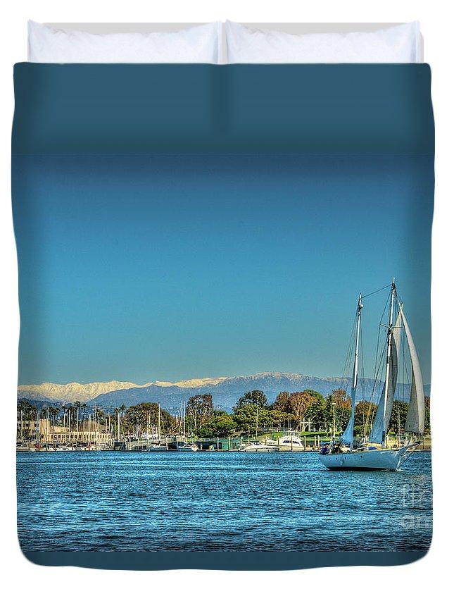 Marina Del Rey Duvet Cover featuring the photograph Marina Del Rey Channel by David Zanzinger