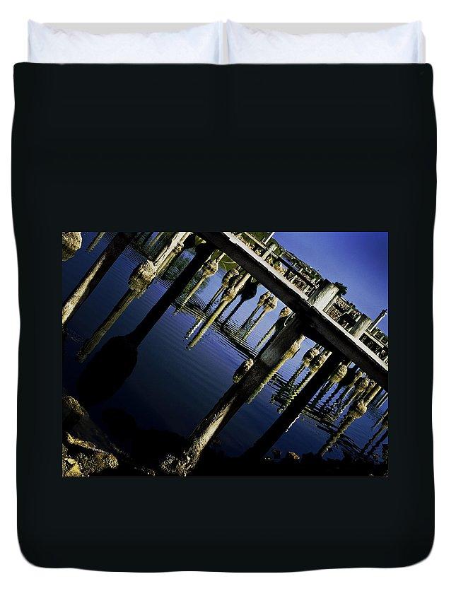Marina Duvet Cover featuring the photograph Marina by Kelly Jade King