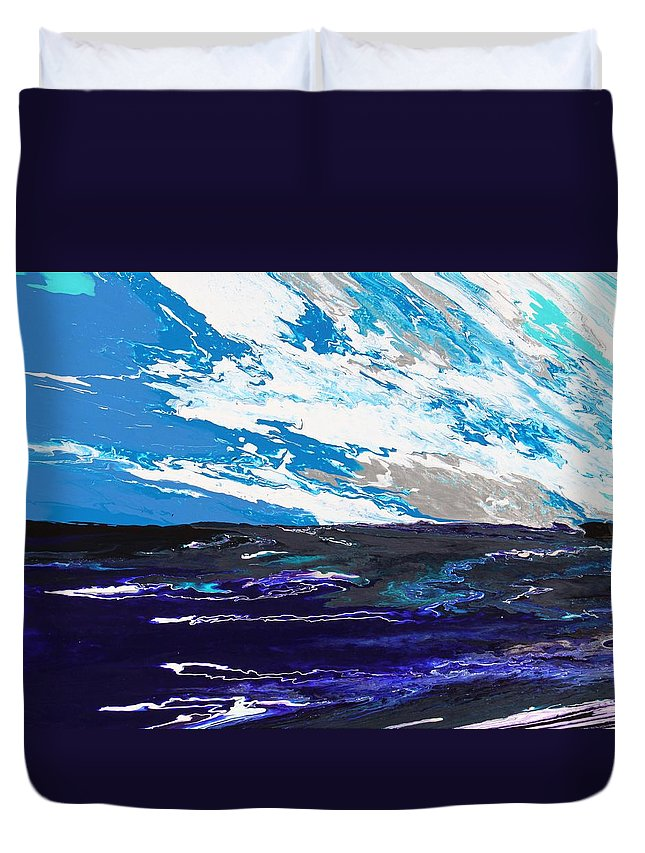 Fusionart Duvet Cover featuring the painting Mariner by Ralph White