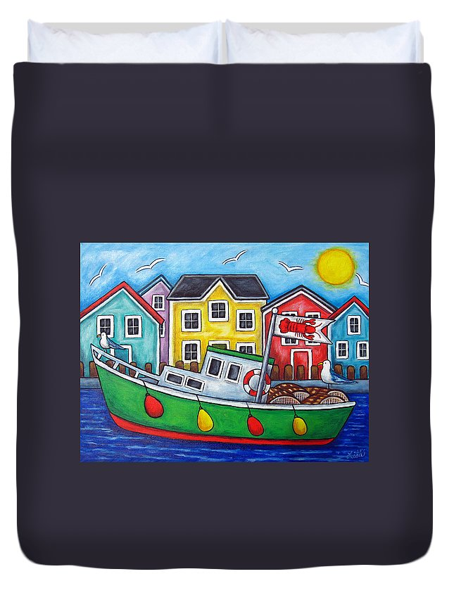 Lisa Lorenz Duvet Cover featuring the painting Maritime Special by Lisa Lorenz