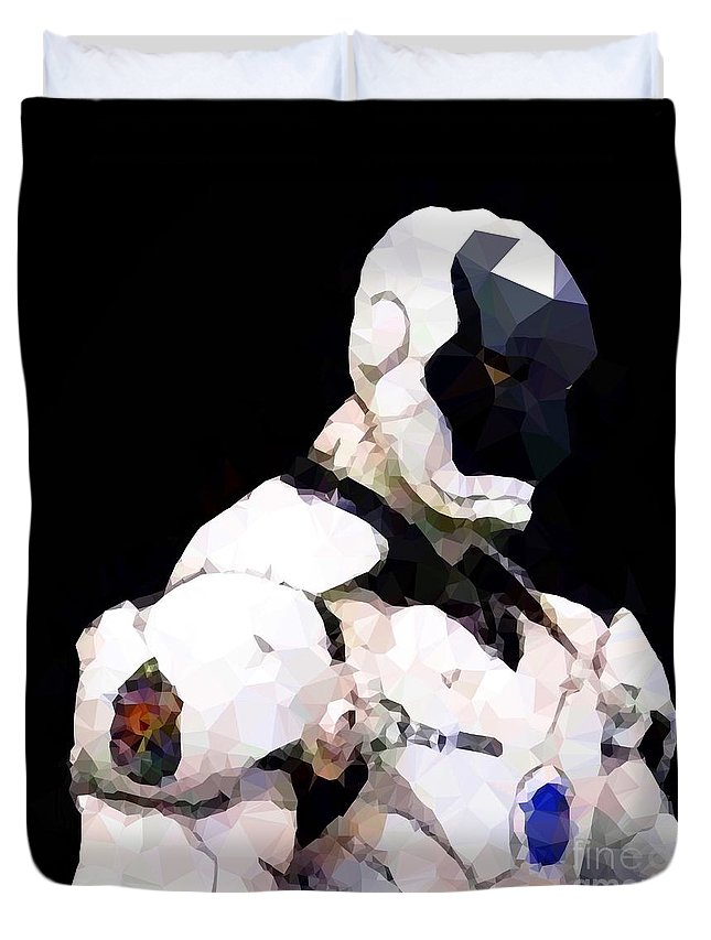 Iron Man Duvet Cover featuring the digital art Mark 18 Casanova by Helge