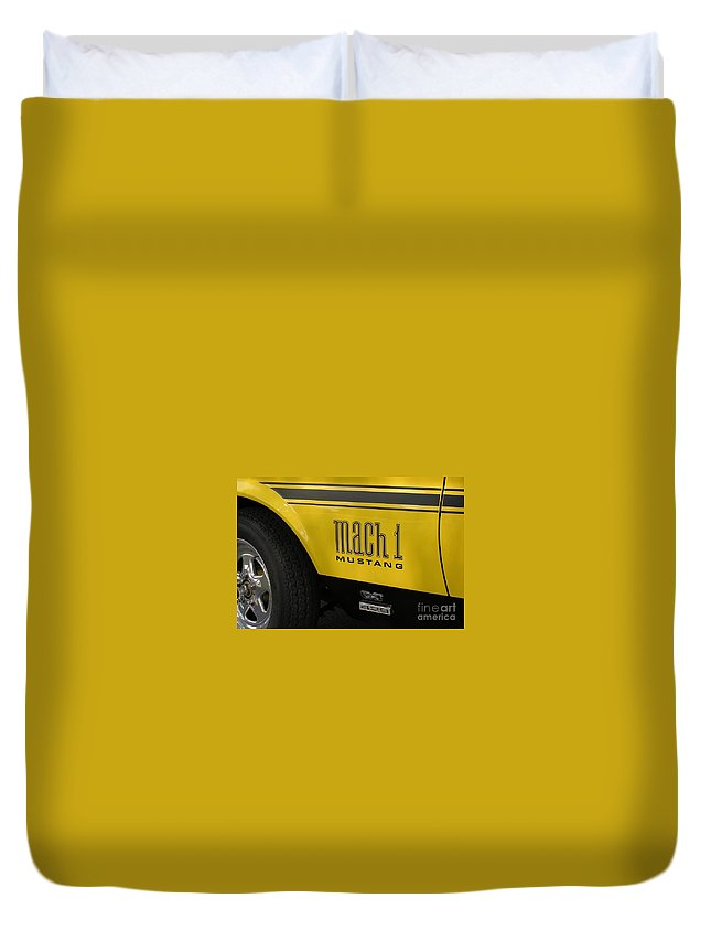 Race Car Duvet Cover featuring the photograph Mark Of The Beast by Richard Rizzo