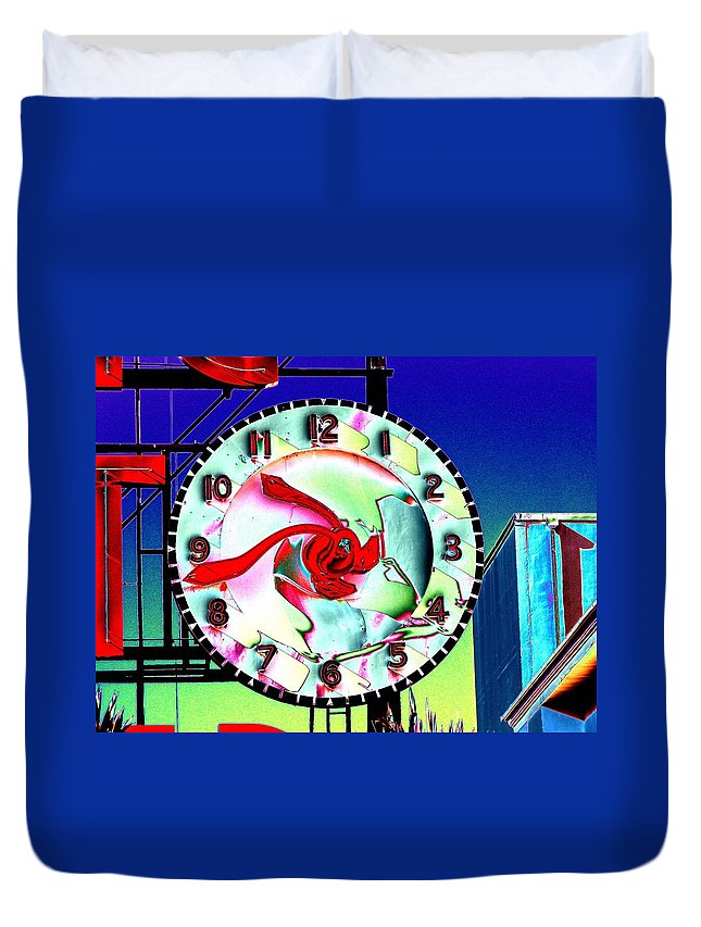 Seattle Duvet Cover featuring the photograph Market Clock 2 by Tim Allen