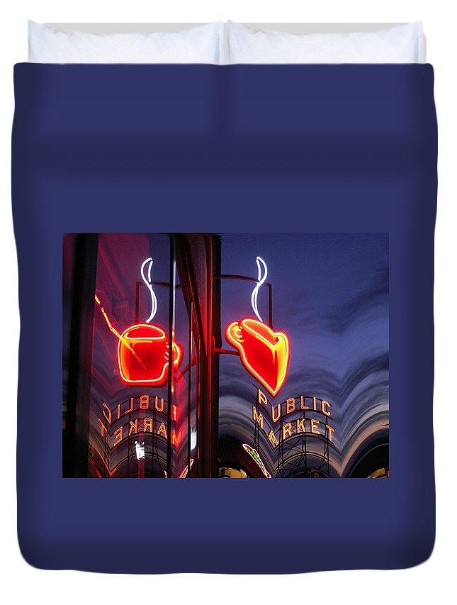 Seattle Duvet Cover featuring the photograph Market Cup 2 by Tim Allen