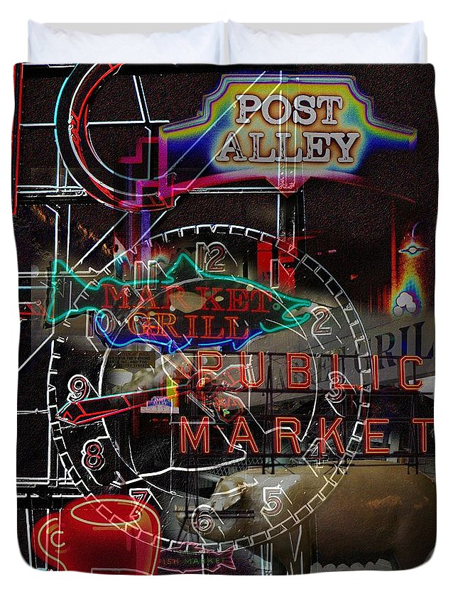 Seattle Duvet Cover featuring the photograph Market Medley by Tim Allen