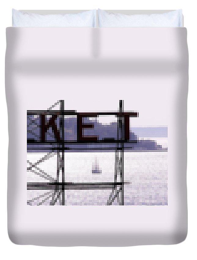 Seattle Duvet Cover featuring the digital art Market Sail by Tim Allen