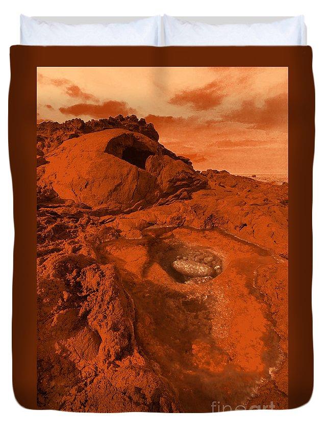Alien Duvet Cover featuring the photograph Mars Landscape by Gaspar Avila