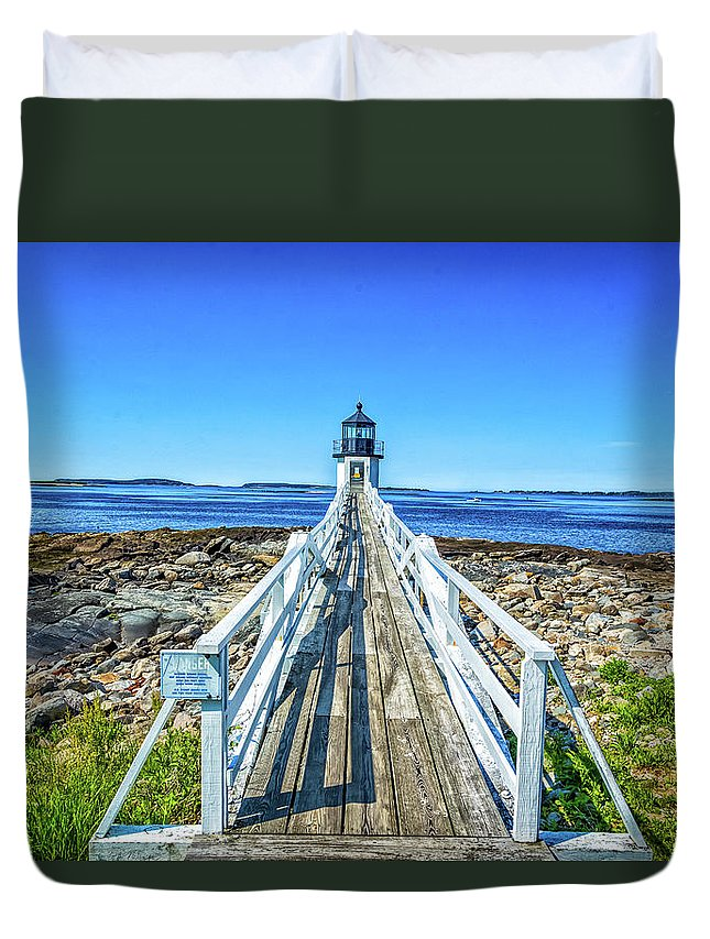 Atlantic Duvet Cover featuring the photograph Marshall Point Light Station by Gestalt Imagery