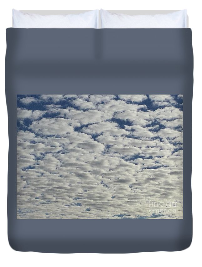Clouds Duvet Cover featuring the photograph Marshmallow Sky by Patricia E Sundik
