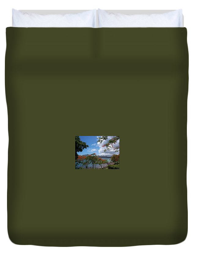 Donation Duvet Cover featuring the photograph Martinique by Mary-Lee Sanders