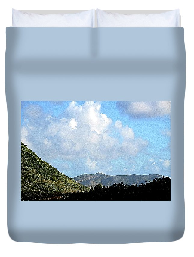 Clouds Duvet Cover featuring the photograph Marvellous Clouds by Ian MacDonald