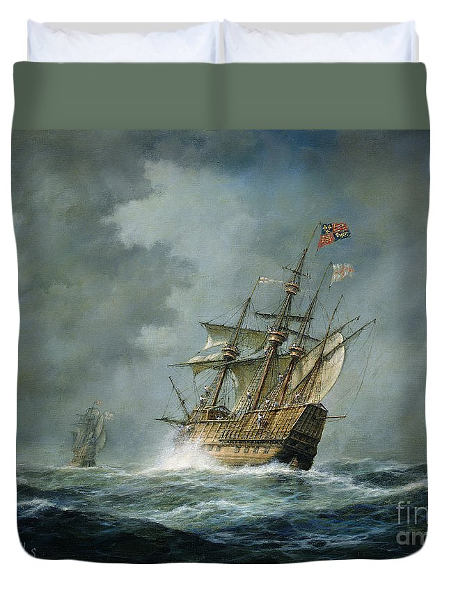 Mary Rose Duvet Cover featuring the painting Mary Rose by Richard Willis