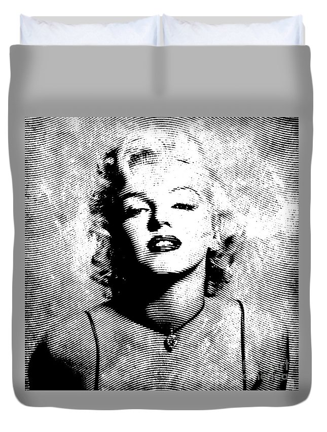 Marylin Duvet Cover featuring the digital art Marilyn Monroe - 04a by Variance Collections