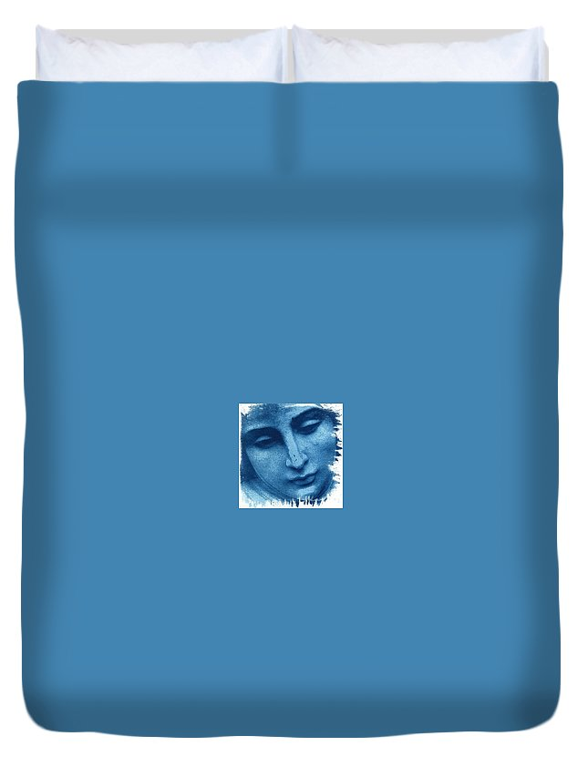 Blue Duvet Cover featuring the photograph Marys Blues by Jane Linders