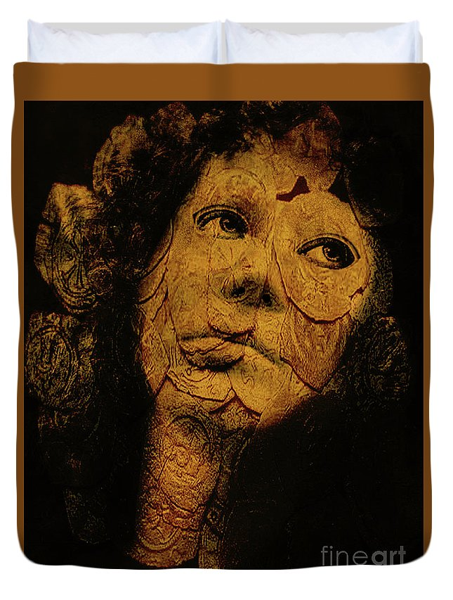 Portraits Duvet Cover featuring the photograph Mask 7 by John Anderson