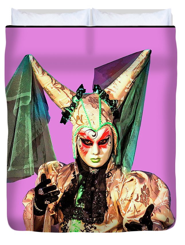 Pop Art Duvet Cover featuring the photograph Masque 9 by Dominic Piperata