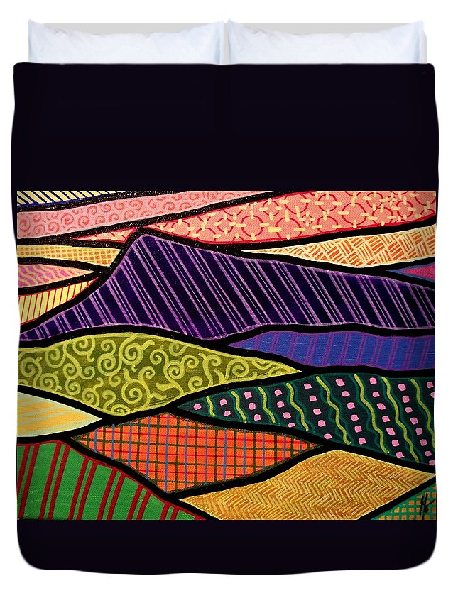 Mountain Duvet Cover featuring the painting Massanutten Sunset by Jim Harris