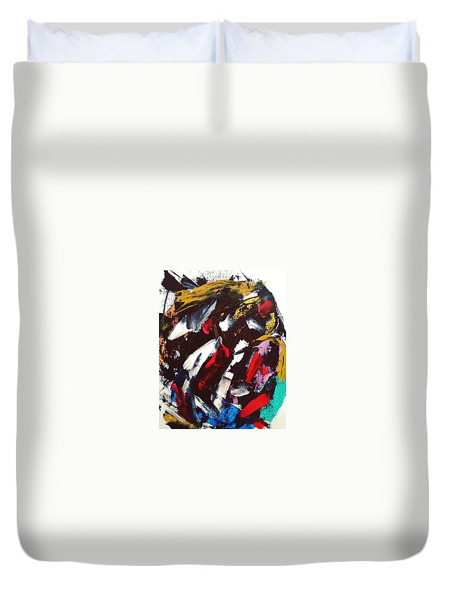 Abstract Art Expressionism Duvet Cover featuring the painting Massive by Tango Barraza