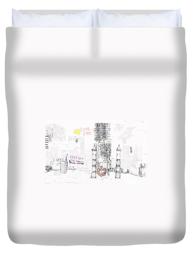 City Duvet Cover featuring the digital art Matera by Andy Mercer