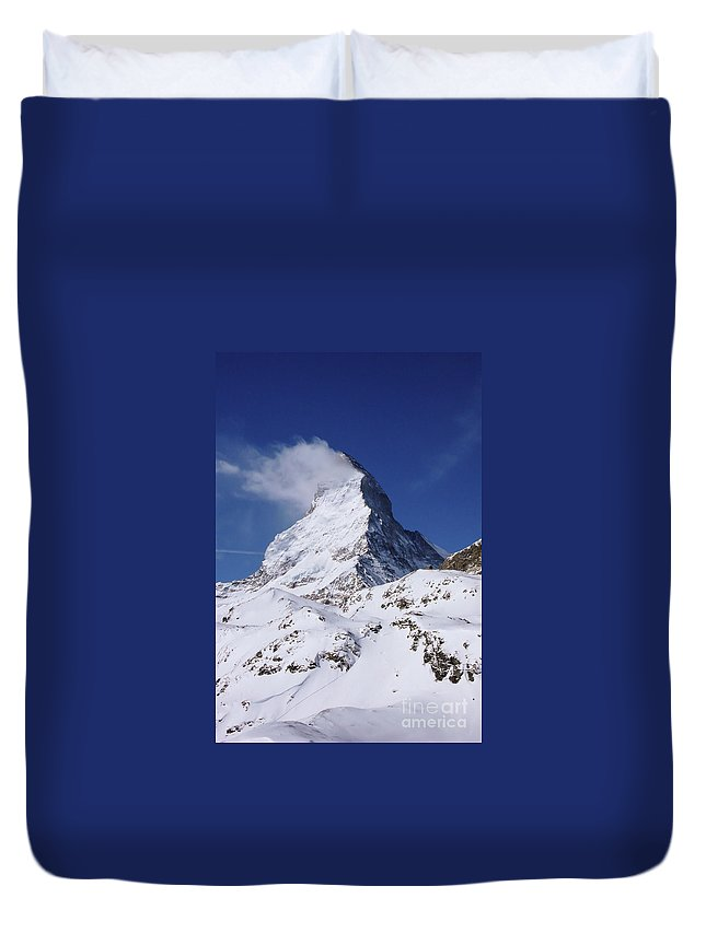Switzerland Duvet Cover featuring the photograph The Horn by DiFigiano Photography