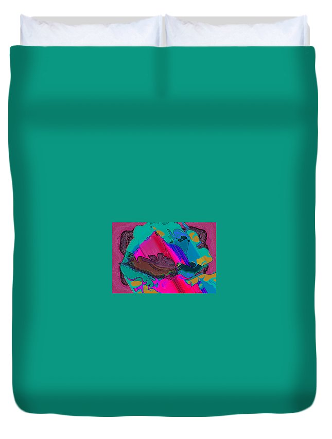 Ebsq Duvet Cover featuring the digital art Mauve Abstract by Dee Flouton