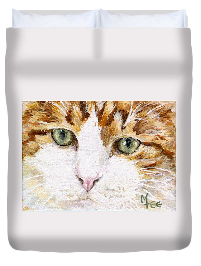 Charity Duvet Cover featuring the painting Max by Mary-Lee Sanders