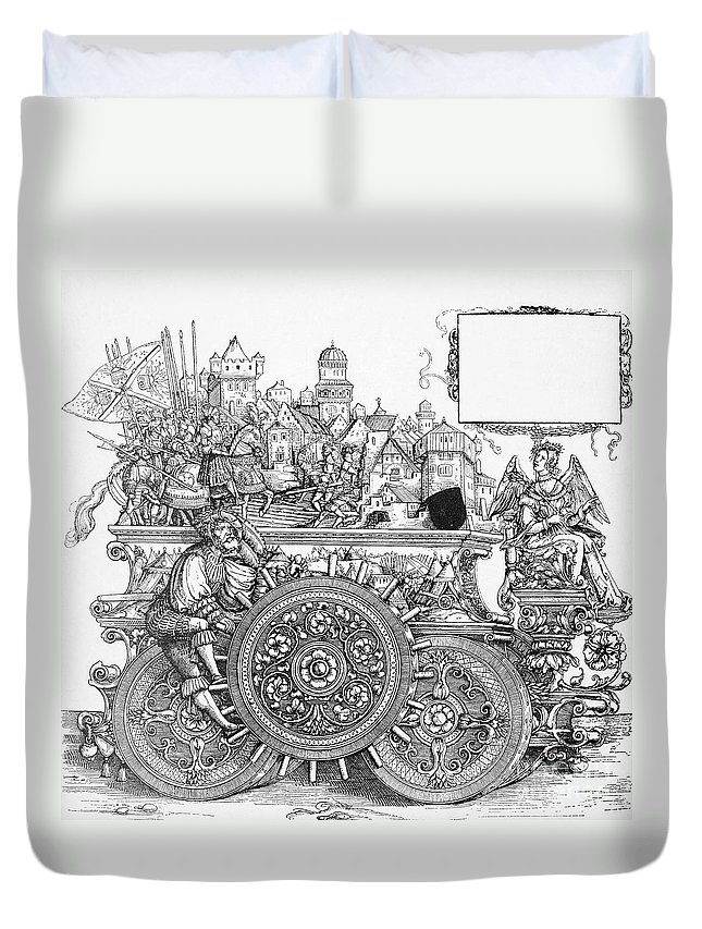 16th Century Duvet Cover featuring the drawing Maximilian I 1459-1519 by Granger