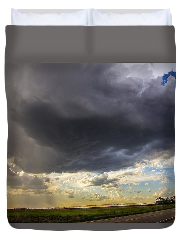 Nebraskasc Duvet Cover featuring the photograph May Nebraska Storm Cells by NebraskaSC