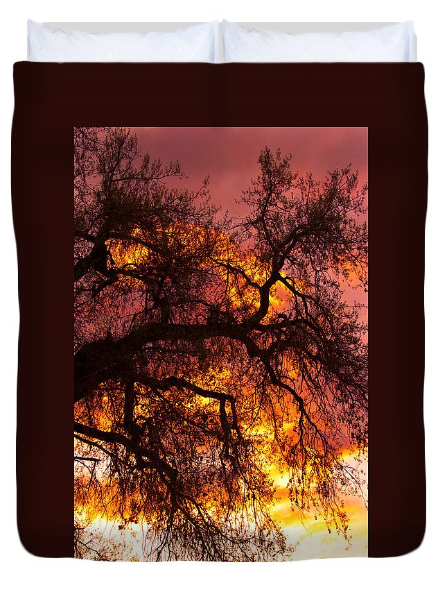 Sunset Duvet Cover featuring the photograph May One Sunset by James BO Insogna