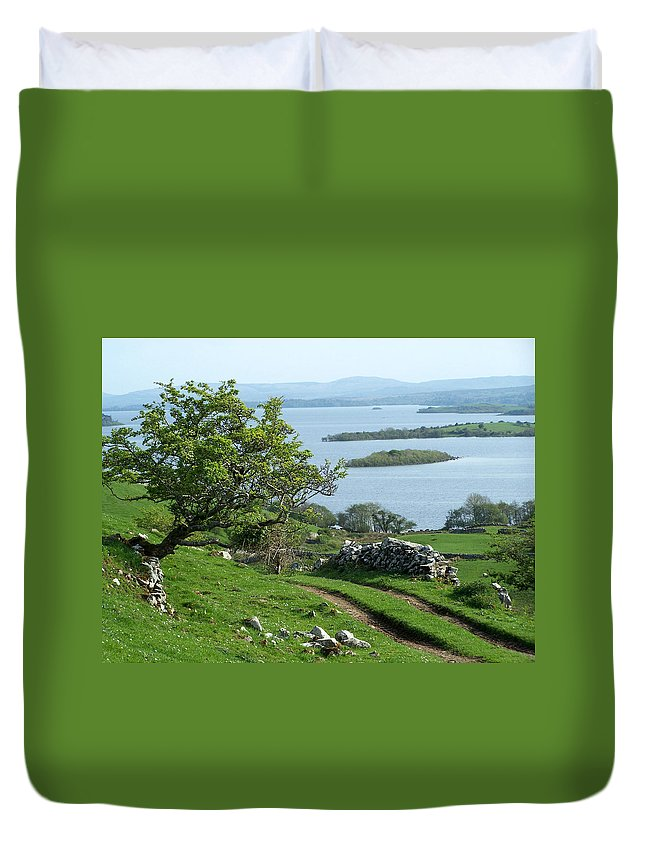 Ireland Duvet Cover featuring the photograph May The Road Rise To Meet You by Teresa Mucha