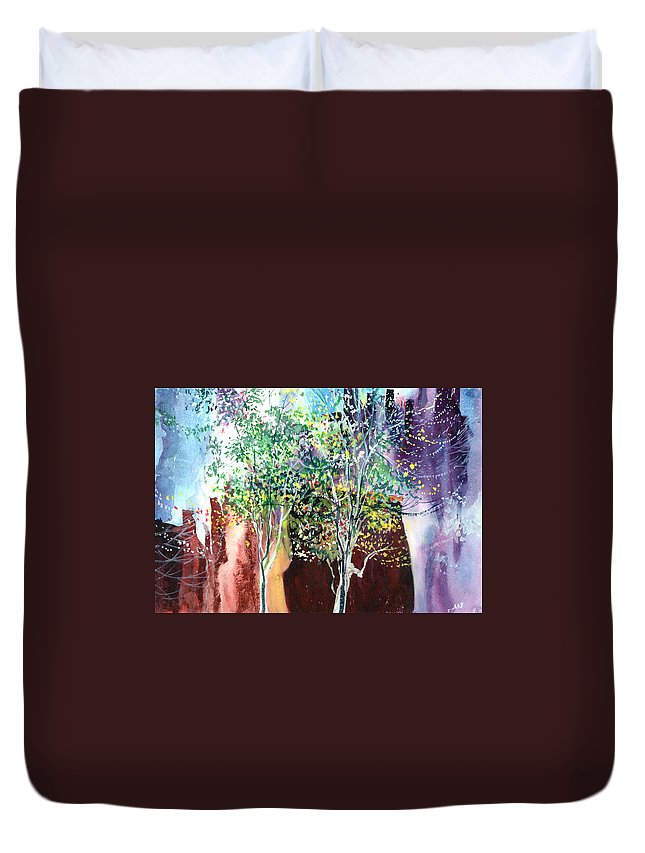 Nature Duvet Cover featuring the painting Maya by Anil Nene
