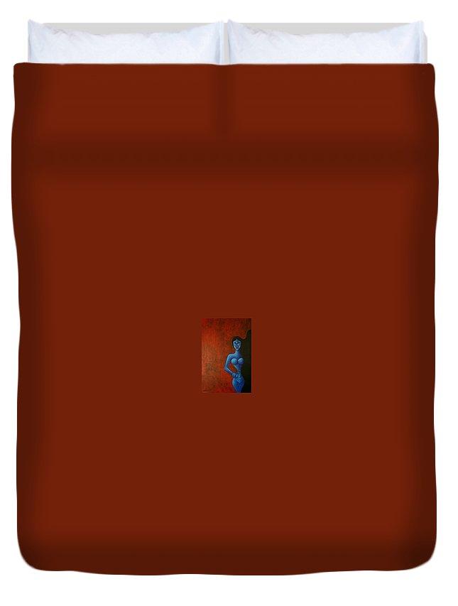 Maya Duvet Cover featuring the painting Maya by Sonali Chaudhari