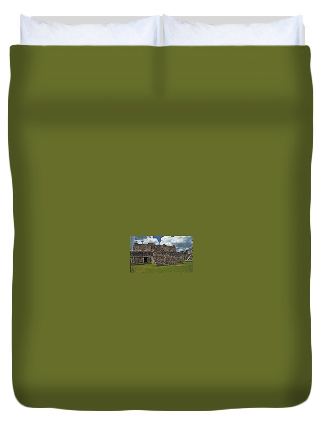 Mayan Duvet Cover featuring the photograph Mayan Ruins 2 by Michael Peychich
