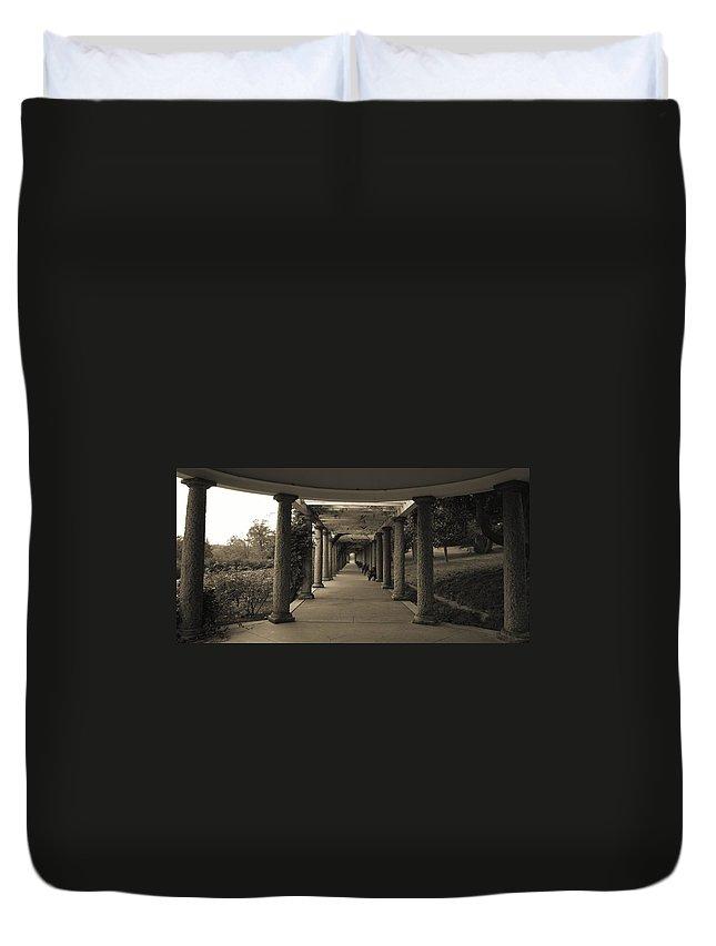 Maymont Duvet Cover featuring the photograph Maymont's Italian Garden by Tina Meador